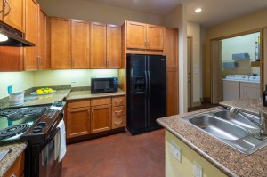 One Bedroom Apartments in Houston, Texas - Model Kitchen & Laundry Room